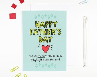 Happy Father's Day From The Baby New Dad Father's Day Card