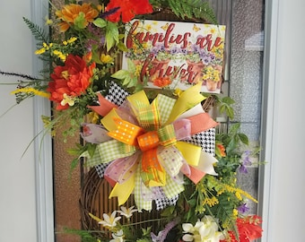 Infinity wreath, Families are Forever, Grapevine wreath, Diane's Designs and Boutique