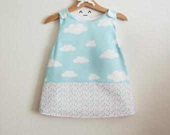 Girl's dress , child's dress , baby dress  , cotton dress , french