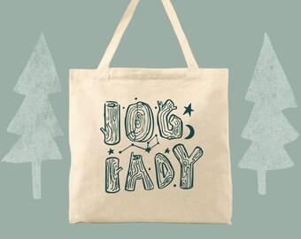 Log Lady cotton canvas twin peaks fan tote bag