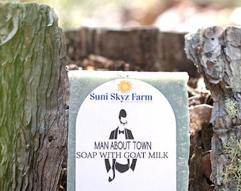 Man About Town Goat Milk Soap - Men's Goat Milk Soap - Goat Milk Soap For Him - Handmade Men's Soap - Goat Milk Soap
