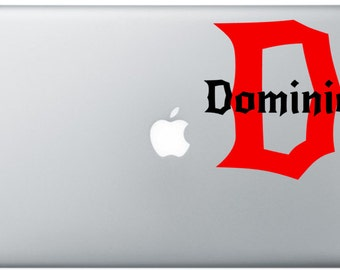 Name and Initial Laptop Decal