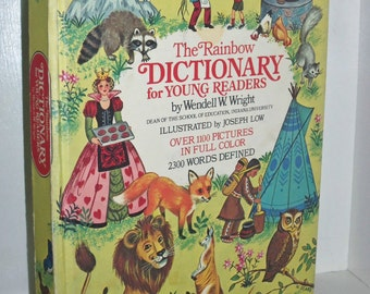 1959 The Rainbow Dictionary For Young Readers HC Book by Wendell W Wright