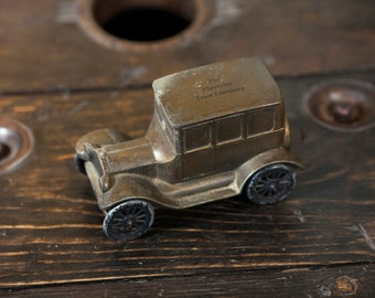 Antique Piggy Bank 1925 Plainville Trust Company Car Piggy Bank
