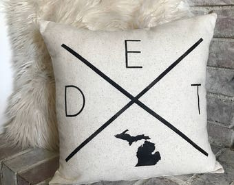 City and State Pillow, City and Silhouette State Pillow, State Silhouette Pillow