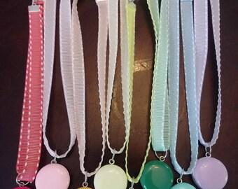 Macaron choker necklaces