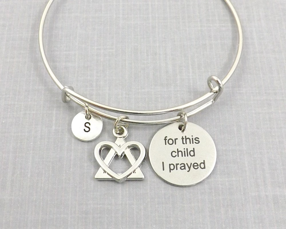 Adoption gift adoption bracelet for this child i prayed zoom buycottarizona Image collections