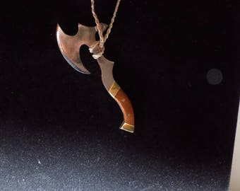 One  of a kind ax neckless