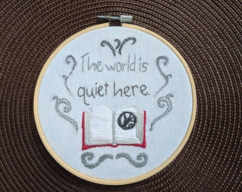 The World is Quiet Here - Lemony Snicket, A Series Of Unfortunate Events Completed Hand Embroidery