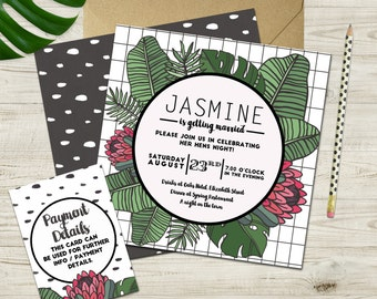 Jungle Hen's Night Invitation