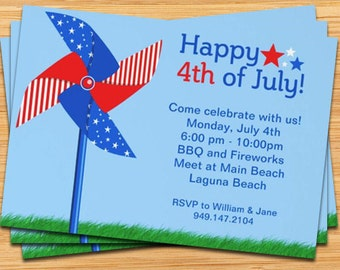 4th of July Party Invitation - 5x7 Printable