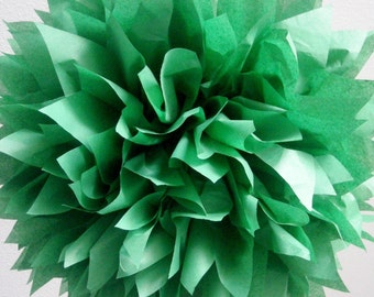 DARK GREEN tissue paper pompom forest woodland theme wedding decorations winter christmas holiday party baby bridal shower day hunter kelly