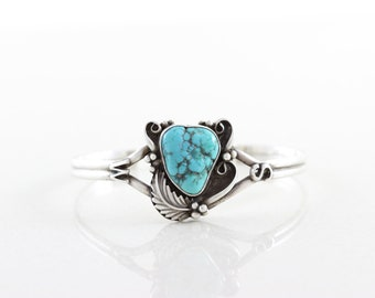 Sterling Silver Turquoise Cuff Adjustable Bracelet