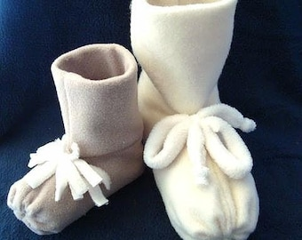 SEWING PATTERN  FF 8.  Fleece Slipper Boots sizes newborn to adult. beginner level sewing - Instant  Download