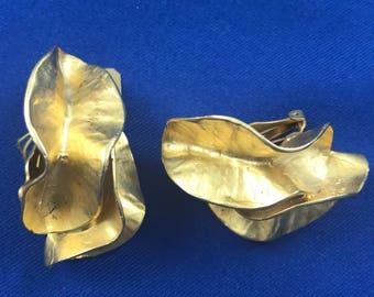 Norma Jean Gold Twisty Earrings