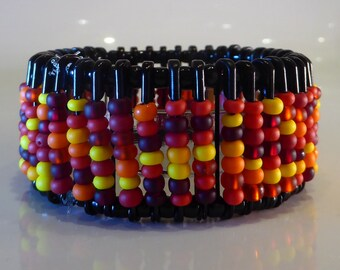 Firebird Steampunk Beaded Bracelet