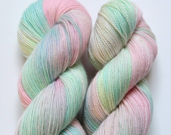 Fillory & Further - the Magicians inspired Sock Yarn on SOL gold sparkle sock - ready to ship!