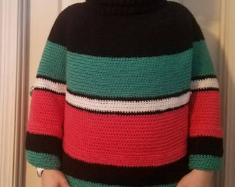 Cozy cowl cape crochet, custom colors available