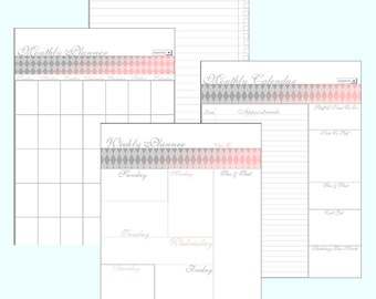 Monthly Calendar / Editable Planner / Weekly Calendar