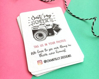 Tag Us - Instagram Photo Review Cards - Packaging Slips - Personalised Review Cards - Personalised Business Cards - Customer Review Cards
