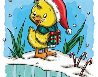 Duckling's Xmas Morning (DIGI STAMP)