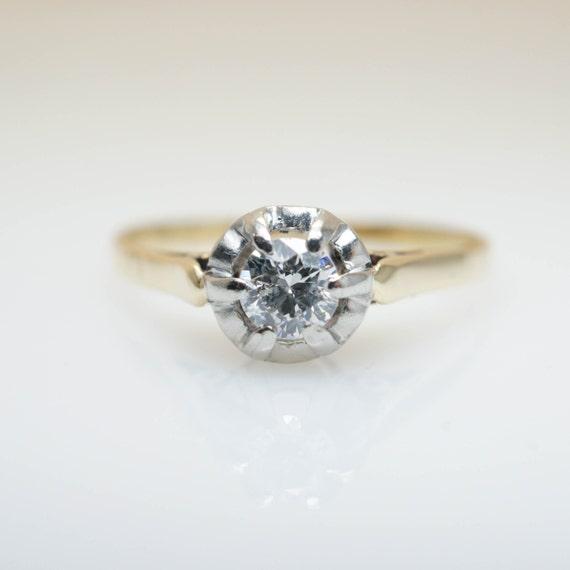 Vintage Diamond Ring 22ct Diamond Engagement Ring Gold Ring