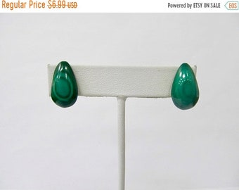 On Sale Vintage Hand Made Malachite Earrings Item K # 1207