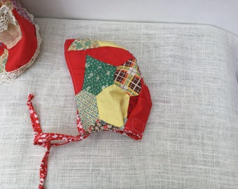 12-18mo Pixie Quilted Baby bonnet