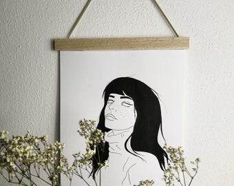 L A N A - original illustration/ wall art/ tattoo template