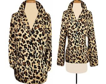 Women's jacket, leopard jacket, leopard print jacket, animal print, short jacket, bolero jacket, cropped jacket, ladies jacket, retro - XL