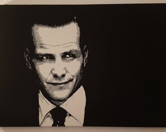 Harvey Specter, Suits, Original Painting, Pop Art Painting, Canvas Painting, Abstract Painting