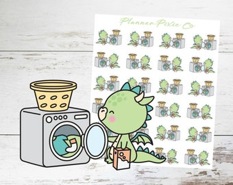 Dragon Planner Stickers // Laundry // Housework // 016