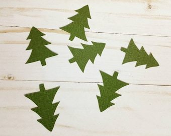Dark green pine tree birthday party table top confetti birthday decoration/baby shower/bridal/hiking/camping/pacific northwest/mountains