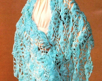 Vintage Hairpin Lace Crochet Shawl Pattern Instant Digital Download