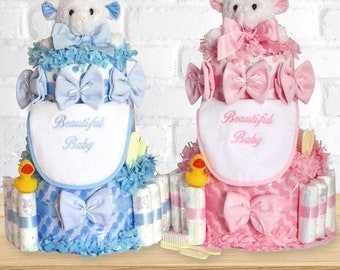 Beautiful Baby Diaper Cakes by Silly Phillie