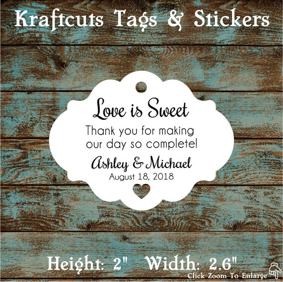 Love is Sweet Favor Tags # 608 - Quantity: 30 Tags