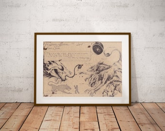 Medium - Hounds of Tindalos - Lovecraft Art Print