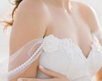 Breathtaking blue wedding dress, off-shoulder wedding dress, tulle wedding dress, sweetheart wedding dress,