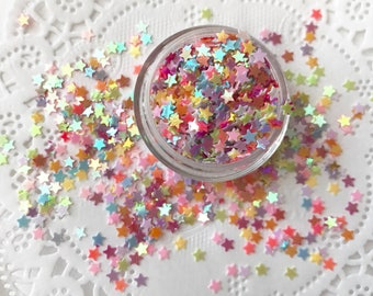 Sequin Stars, Loose Sequins Mix, Confetti, Rainbow Stars Mix
