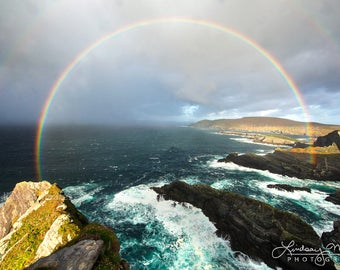 "Double Rainbow Wall Art | ""Pot of Gold"" 