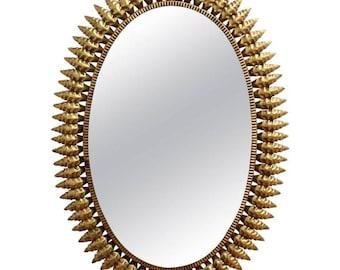 Spanish Gilt Metal Sunburst Mirror (c. 1950s)