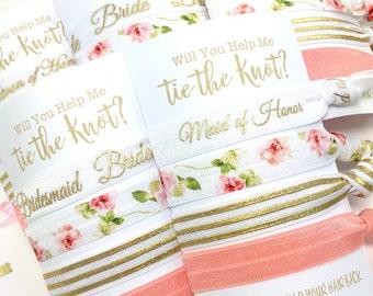 Will You Be My Bridesmaid Card | Bridesmaid Proposal | Bridesmaid Gift, Maid of Honor Gift, Flower Girl Gift, Jr. Bridesmaid Gift, Hair Ties
