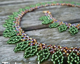 Leaves Necklace Beadwork Pattern/Tutorial - Instant Download