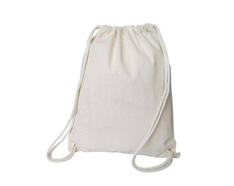 Natural Thick Cotton Muslin Gift Bags with Drawstrings, 12-Pack, 12-Pack - Choose color/Size
