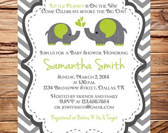 Items similar to momma and baby elephant baby shower invitation momma and baby elephant baby shower invitation baby shower elephant boy girl gray yellow purple pink blue green digital 1001 filmwisefo