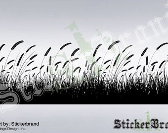 Vinyl Wall Decal Sticker GRAIN FIELD Grass Big 38x115 item 333A