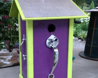 Grape & Lime birdhouse