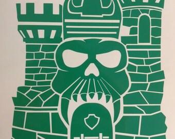 Castle Grayskull Decal MotU heman skeletor ram man he-man vintage retro 80's action figure vinyl sticker car truck shirt window bumper Decal