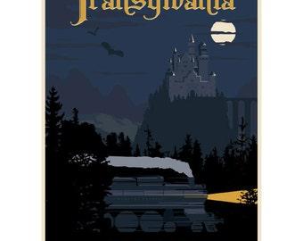 Transylvania Dracula Travel Ad Wall Decal #44827