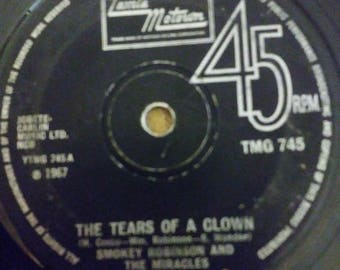 Smokey Robinson & The Miracles The Tears of a Clown 45 RPM Tamla Motown made in Great Britain